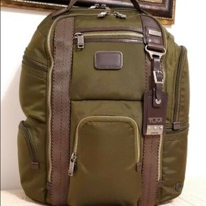 Tumi Green/Brown New Back Pack